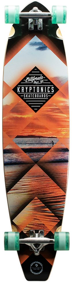 Kryptonics Blocktail Sunset Tubes 44 in Longboard