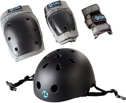 Kryptonics Youth California 4-in-1 Pad Set With Helmet