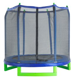 Upper Bounce 7 ft Round Indoor/Outdoor Trampoline with Enclosure
