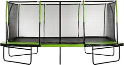 Upper Bounce Mega 10 ft x 17 ft Rectangular Trampoline with Fiber Flex Enclosure System