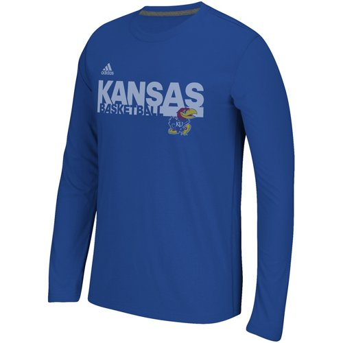 adidas Men's University of Kansas Sideline Grind Long Sleeve T-shirt