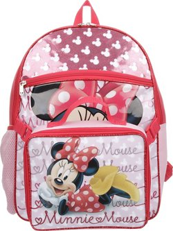 Disney™ Girls' Minnie Mouse Backpack with Lunch Kit