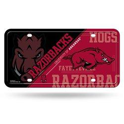 Rico University of Arkansas Metal Auto Tag