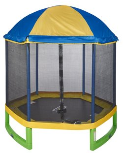 JumpZone 7 ft My First Trampoline with Tent Top Combo