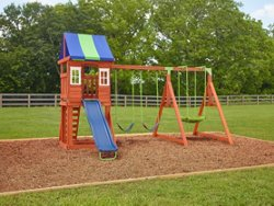 AGame West Fork Wooden Swing Set