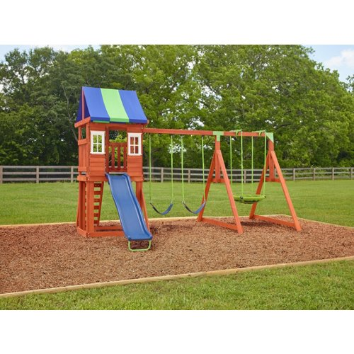 AGame West Fork Wooden Swing Set