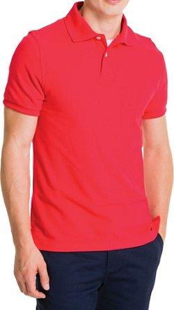 Lee Young Men's Short Sleeve Pique Polo Shirt