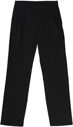 French Toast Husky Boys' Adjustable Waist Pleated Double Knee Pants