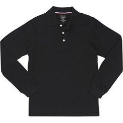 Boys' Long Sleeve Pique Polo Shirt