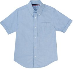 French Toast Boys' Short Sleeve Oxford Shirt