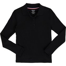 Toddler Girls' Long Sleeve Picot Collar Knit Polo Shirt