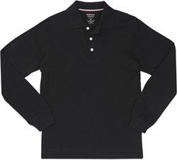 French Toast Boys' Long Sleeve Pique Polo Shirt