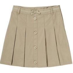 Girls' Bow Front Pleated Scooter Skirt