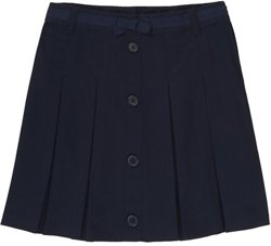French Toast Girls' Bow Front Pleated Scooter Skirt