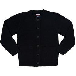 Toddler Girls' Antipill Crew-Neck Cardigan Sweater