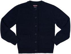 French Toast Toddler Girls' Antipill Crew-Neck Cardigan Sweater
