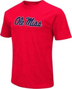 Colosseum Athletics Men's University of Mississippi Logo Short Sleeve T-shirt