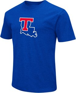 Colosseum Athletics Men's Louisiana Tech University Logo Short Sleeve T-shirt