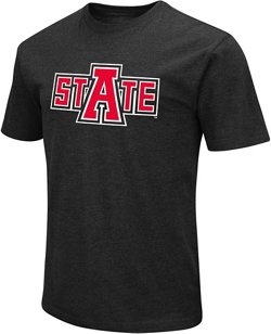 Colosseum Athletics Men's Arkansas State University Logo Short Sleeve T-shirt