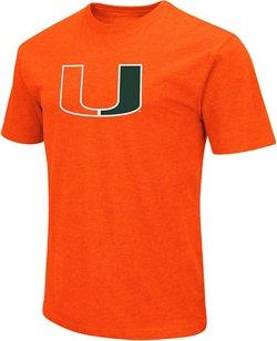 Colosseum Athletics Men's University of Miami Logo Short Sleeve T-shirt