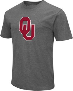 Colosseum Athletics Men's University of Oklahoma Logo Short Sleeve T-shirt