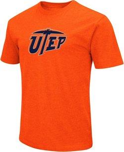 Colosseum Athletics Men's University of Texas at El Paso Logo Short Sleeve T-shirt