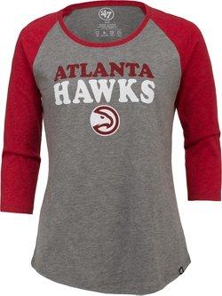 '47 Atlanta Hawks Women's Wordmark Raglan Long Sleeve T-shirt