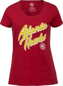 '47 Atlanta Hawks Women's Italic Wordmark Club Scoop Neck T-shirt