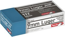 9mm Luger 117-Grain Jacketed Hollow Point Ammunition