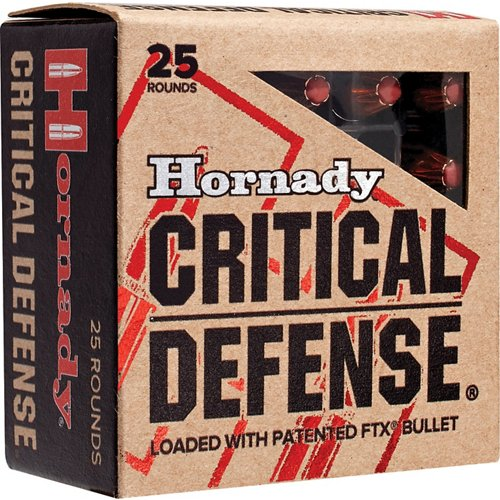 Hornady FTX® Critical Defense® .380 Automatic 90-Grain Handgun Ammunition
