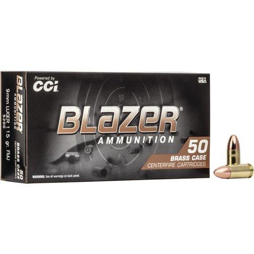Blazer® Brass 9mm Luger 115-Grain FMJ Centerfire Pistol Ammunition