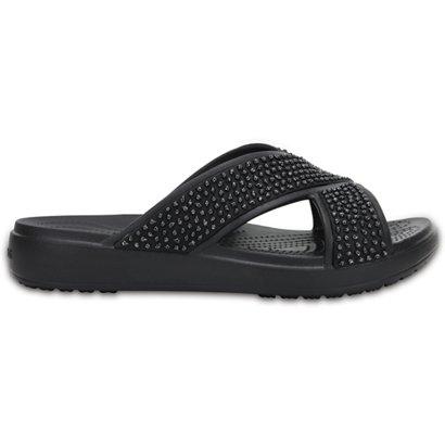 cca4fa6d6e7a Crocs Women s Sloane Embellished Cross-Strap Sandals