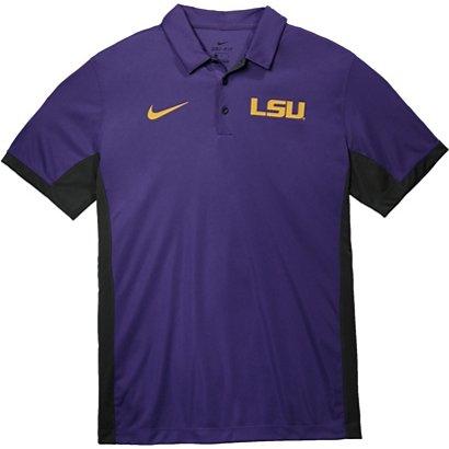 f8dd93bff47 Nike Men s Louisiana State University Dri-FIT Evergreen Polo Shirt ...