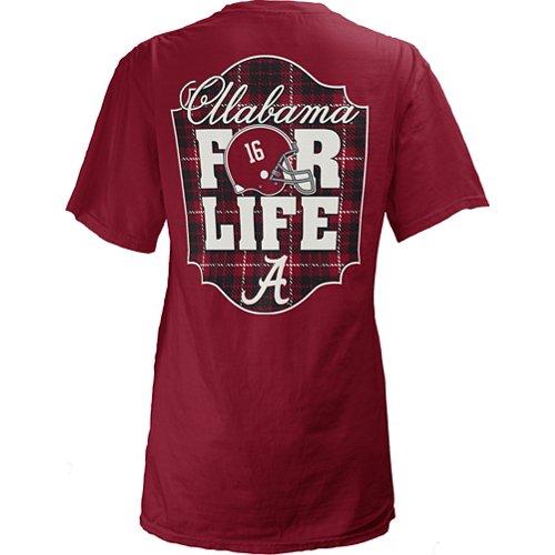 Three Squared Juniors' University of Alabama Team For Life Short Sleeve V-neck T-shirt
