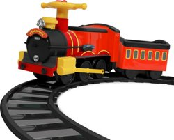 RollPlay 6V Kids' Ride Along Motorized Steam Train Ride-On