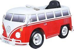 RollPlay 6V Kid's Volkswagen Bus Ride-On Vehicle