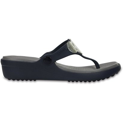 3a610a9ec52 ... Crocs™ Women s Sanrah Embellished Wedge Flip-Flops. Women s Sandals    Flip Flops. Hover Click to enlarge