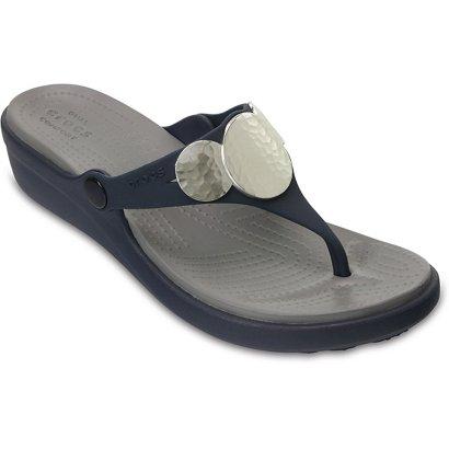 762138dab73 Crocs™ Women s Sanrah Embellished Wedge Flip-Flops