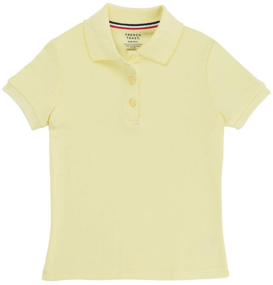 Display product reviews for French Toast Girls' Polo Shirt with Picot Collar