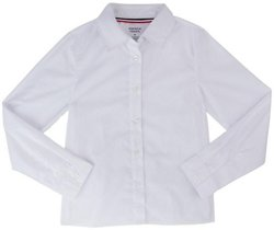 Girls Long Sleeve Pointed Collar Blouse