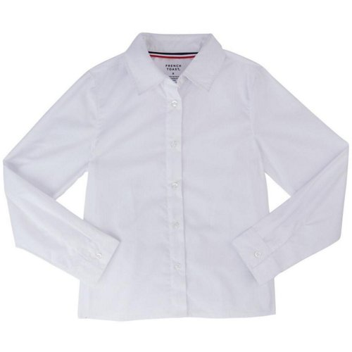 French Toast Girls' Long Sleeve Pointed Collar Blouse