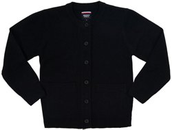 French Toast Girls' Antipill Crew Neck Cardigan Sweater
