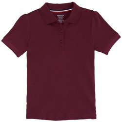 French Toast Girls' Short Sleeve Stretch Pique Polo Shirt