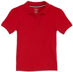 Girls' Short Sleeve Stretch Pique Polo Shirt