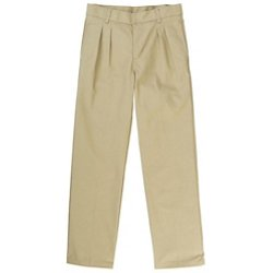 Boys' Adjustable Waist Pleated Double Knee Pant