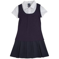 Girls' 2-in-1 Pleated Dress