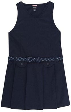 French Toast Girls' Signature Dot Collection Bow Belted Jumper