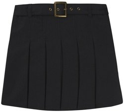 French Toast Girls' Plus Size Square Buckle Belt Pleated Scooter