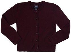French Toast Girls' Plus Fine Gauge Knit Cardigan Sweater