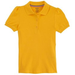 Girls' Plus Size Short Sleeve Stretch Pique Polo Shirt
